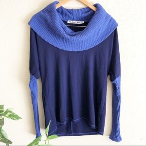 Anthro Michael Stars cowl neck knit sweater os